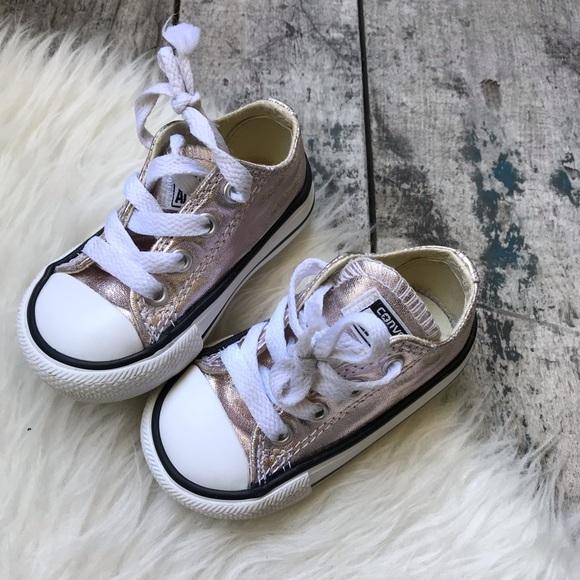 Converse Rose Gold Shoes Sz 4 Infant